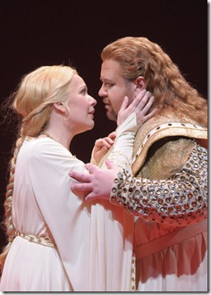Emily Magee and Johan Botha in Lyric Opera Lohengrin - photo Dan Rest