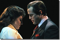 Abby Mueller as Sarah, Brian Hissong as Sky in Marriott Theatre's 'Guys and Dolls'.
