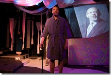Arch Harmon in Iphigenia ... (a rave fable), presented by Chicago's Halcyon Theatre. Photo by Tom McGrath.