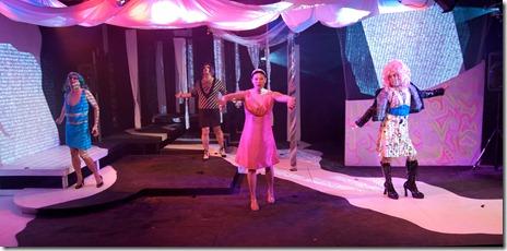 Arvin Jalandoon, Derrick York Christine Lin and Rafael Franco in Halcyon Theatre's Iphigenia. Photo by Tom McGrath.
