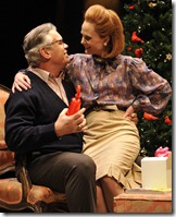 Dolores (Barbara Garrick) surprises her husband James (Scott Jaeck) with an early Christmas present in Thomas Bradshaw's Mary.  Photo by Liz Lauren.