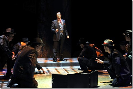 Brian Hissong as Sky Masterson in Marriott Theatre's 'Guys and Dolls'