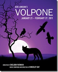 City Lit Theatre presents 'Volpone' by Ben Jonson, directed by Sheldon Patinkin.