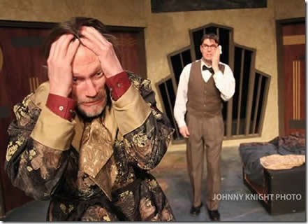 Don Bender and Eric Damon Smith in Volpone - City Lit Theater.  Photo credit: Johnny Knight