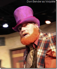 Don Bender as Volpone by Ben Jonson - City Lit Theater. Photo by Johnny Knight.