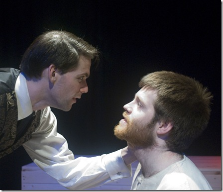 Edward Harch as Dracula and Nathan Thompson as Renfield in a scene from Idle Muse Theatre's 'Dracula'