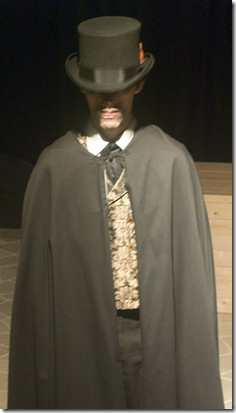 Edward Karch as Dracula in Idle Muse Theatre's production of 'Dracula'