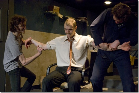 Danny Goldring and cast in The Inconvenience's 'The Earl' at A Red Orchid Theatre. Photo credit Erica Jaree.
