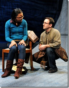 Falashay Pearson and Stef Tovar in a scene from Route 66 Theatre's 'A Twist of Water'.