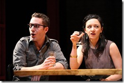 Andrew Goetten, Lindsay Leopold in The Big Meal at American Theater Company.