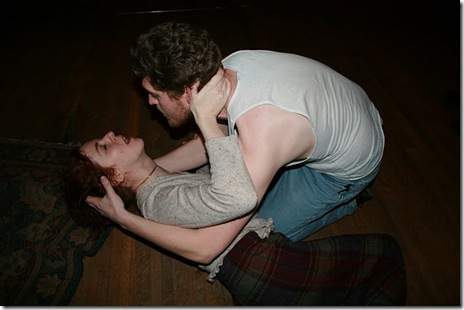 Jack Sharkey as Hamlet and Meg Elliott as Gertrude, DreamLogic TheatreWorks, Chicago