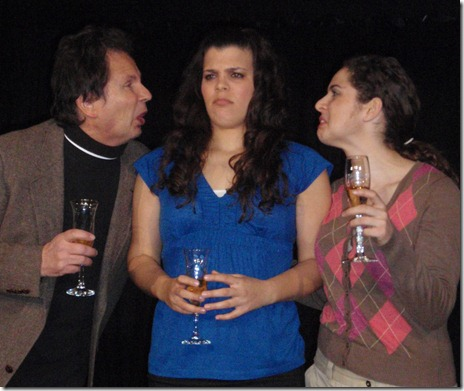 From left to right: David E. Wojtowicz, Elissa Newcorn and Elise Morrow-Schap. James Downing Theatre Chicago