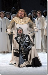 Johan Botha and Greer Grimsley in Lohengrin - Photo Dan Rest