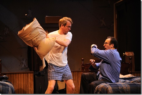 Steve Key and Joe Dempsey in Victory Garden's 'The Boys Room' by Joel Drake Johnson.  Photo by Liz Lauren.