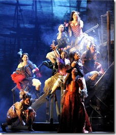 "Female cast members perform ""Lovely Ladies"" in the national tour of 'Les Miserables'. Photo Credit: Deen van Meer"