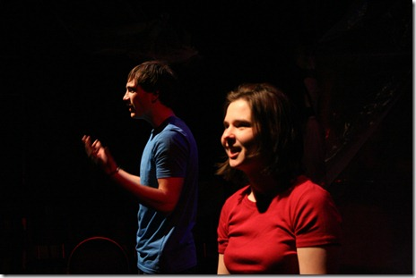 A scene from 'Make Me Love You - an evolution of love, presented by New Rock Theater and The Verge Theatre