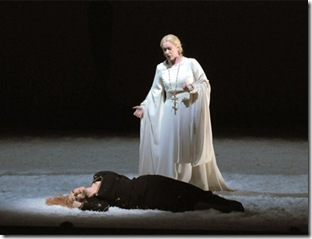Michaela Schuster and Emily Magee in Lyric Opera Lohengrin - photo Dan Rest