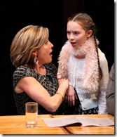 Lia Mortensen and Emily Leahy in The Big Meal at American Theater Company.
