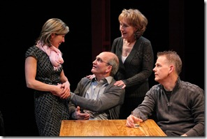 Lia D. Mortensen, Will Zahrn, Peggy Roeder, Philip Earl Johnson in The Big Meal at American Theater Company.
