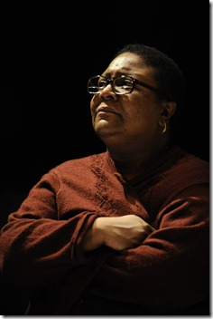 Myra Lucretia Taylor, as Nigger Mary, struggles with her relationship with the Jennings family in Thomas Bradshaw's 'Mary'. Photo by Liz Lauren.