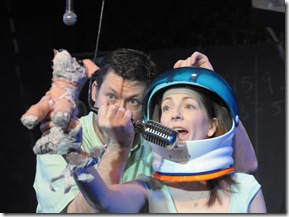 A scene from 'Laika: Dog in Space' at Neo-Futurists in Andersonville. Photo by Lauren Sharpe.