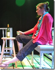 Kimberly Logan as Orah in 'Feet of Clay' by Stephen Louis Grush, presented by LASTmatch Theatre Company, Chicago.