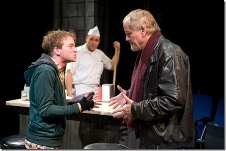 Patrick Andrews and Francis Guinan in Brett Neveu's  'Do the Hustle' at Writers' Theatre