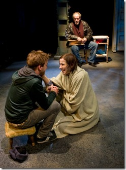 Patrick Andrews, Karen Janes Woditsch and Francis Guinan - Brett Neveu's 'Do the Hustle' at Writers' Theatre in Glencoe.