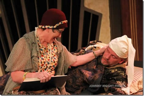 Patti Roeder and Don Bender in Volpone - City Lit Theater. Photo by Johnny Knight.