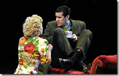 Rod Thomas as Nathan, Jessie Mueller as Adelaide in Frank Loesser's 'Guys and Dolls' at Marriott Theatre