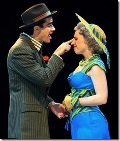 Rod Thomas as Nathan, Jessie Mueller as Adelaide in Marriott Theatre's 'Guys and Doll's'
