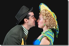 Rod Thomas as Nathan, Jessie Mueller as Adelaide in Marriott Theatre's 'Guys and Dolls'