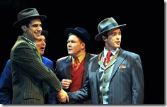 Rod Thomas, Bernie Yvon, George Andrew Wolff, Brian Hissong in Frank Loesser's 'Guys and Dolls' at Marriott Theatre.