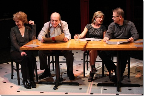 Peggy Roeder, Will Zahrn, Lia D. Mortensen, Philip Earl Johnson in The Big Meal at American Theater Company.