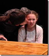 Noah Jerome Schwartz and Emily Leahy in The Big Meal at American Theater Company.