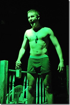Craig Cunningham as Sonny in 'Feet of Clay' by Stephen Louis Grush, presented by LASTmatch Theatre Company in Chicago.