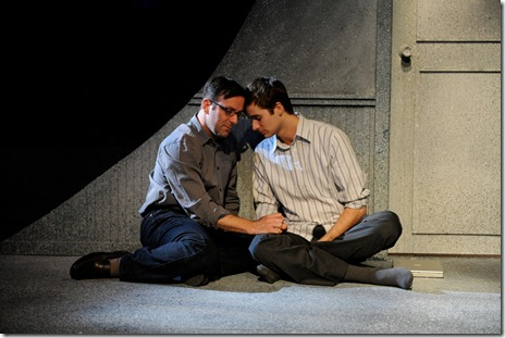 Stef Tovar and Alex Hugh Brown in a scene from Route 66 Theatre's 'A Twist of Water'.