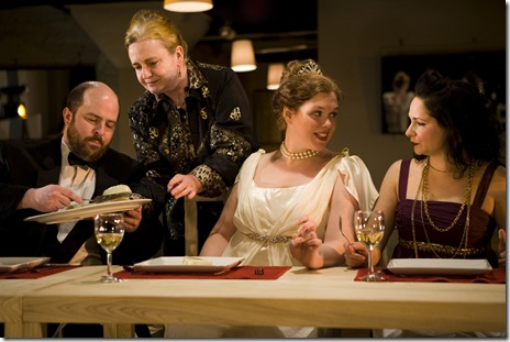 A scene from 'The Wedding' by Bertolt Brecht, re-mounted by TUTA Theatre of Chicago