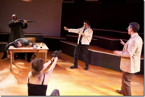 "Cast of ""The Untimely Death of Adolf Hitler,"" part of ""Sketchbook REVERB."" Photo by Saverio Truglia."