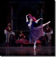 Victoria Jaiani as Hannah the wealthy widow in Joffrey Ballet's 'Merry Widow'