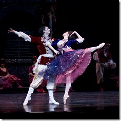 Victoria Jaiani and Miguel Angel Blanco in Joffrey Ballet's 'The Merry Widow'