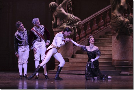 Victoria Jaiani and Miguel Angel Blanco in Joffrey Ballet's 'Merry Widow'.