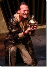Don Bender as Volpone in City Lit's VOLPONE.  Photo by Johnny Knight.