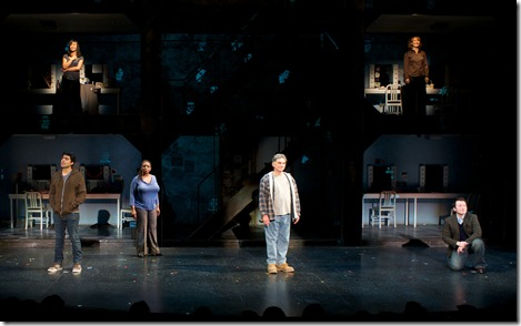 Michael Mahler, E. Faye Butler, Gabriel Ruiz, Emjoy Gavino, Gene Weygandt, Barbara Robertson in Broadway in Chicago's 'Working'