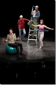 Steve Key, Joseph D. Lauck, Rae Gray, Lori Myers, and Carmen Roman in a scene from Victory Garden's 'Circle Mirror Transformation'.