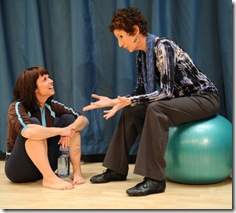Lori Myers and Carmen Roman in 'Circle Mirror Transformation' at Victory Gardens Biograph Theatre in Chicago