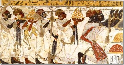 actient Egyptian wall painting