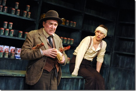 Dermot Crowley and Tadhg Murphy in Druid Theatre's 'The Cripple of Inishmaan'. Photo by Robert Day.