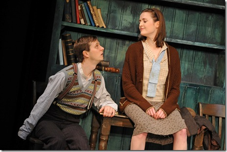 Tadhg Murphy and Clare Dunne in Druid Theatre's 'The Cripple of Inishmaan'. Photo by Robert Day.