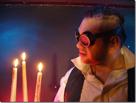 Gabe Garza as Hyde, in The Mammals' 'The Dream Journal of Doctor Jekyll'